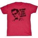 Ace Ventura Shirt Spank You Adult Red Tee T-Shirt