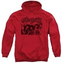 Aerosmith Hoodie Old Photo Red Sweatshirt Hoody