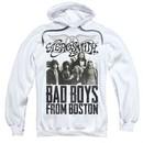 Aerosmith Hoodie Sweatshirt Bad Boys White Adult Hoody Sweat Shirt
