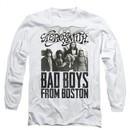 Aerosmith Shirt Bad Boys Long Sleeve White Tee T-Shirt