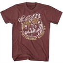 Aerosmith Shirt Get Your Wings US Tour 1974 Maroon T-Shirt
