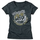 Aerosmith Shirt Juniors Get Your Wings US Tour 1974 Dark Grey T-Shirt