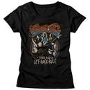 Aerosmith Shirt Juniors Let Rock Rule Tour 2014 Black T-Shirt