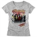 Aerosmith Shirt Juniors Rock Band Group Photo Grey T-Shirt