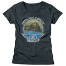 Aerosmith Shirt Juniors Train Kept A Rollin Tour 1974 Dark Grey T-Shirt