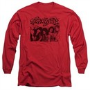 Aerosmith Shirt Old Photo Long Sleeve Red Tee T-Shirt