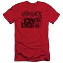 Aerosmith Shirt Slim Fit Old Photo Red T-Shirt
