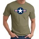 Air Force Shirt Aircraft Insignia Logo Olive Green Tee T-Shirt