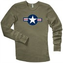 Air Force Thermal Shirt Long Sleeve Aircraft Insignia Olive Green