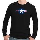 Air Force Thermal Shirt Long Sleeve Aircraft Insignia Black Shirt