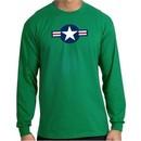 Air Force Long Sleeve Shirt Aircraft Insignia Kelly Green Tee Shirt