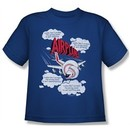 Airplane Shirt Kids Picked The Wrong Day Royal Blue Youth Tee T-Shirt