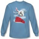 Airplane Shirt Logo Long Sleeve Carolina Blue Tee T-Shirt