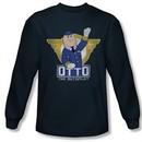 Airplane Shirt Otto Long Sleeve Navy Tee T-Shirt