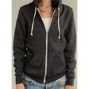 Alternative Apparel Ladies Full Zip Hoodie Rocky Eco Black Hoody