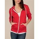 Alternative Apparel Full Zip Hooded Hoody Eco True Red Fleece Hoody