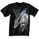 Albert Einstein Shirt Black Holes Suck Black T-shirt