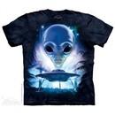 Alien Landing Shirt Tie Dye Adult T-Shirt Tee