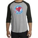 Peace Sign Shirt All You Need Is Love Raglan Tee Heather Grey/Black