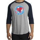 Peace Sign Shirt All You Need Is Love Raglan Tee Heather Grey/Navy