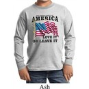 America Love It or Leave It Kids Long Sleeve Shirt
