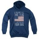 American Flag Kids Hoodie Pack Your Bag Navy Youth Hoody