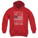 American Flag Kids Hoodie Pack Your Bag Red Youth Hoody