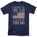 American Flag Shirt Pack Your Bag Navy T-Shirt