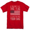 American Flag Shirt Pack Your Bag Red T-Shirt