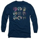 American Horror Story Long Sleeve Shirt Cabinet Of Curiosities Navy Blue Tee T-Shirt