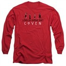 American Horror Story Long Sleeve Shirt Witch Parade Red Tee T-Shirt