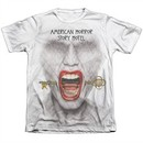 American Horror Story Shirt Fear Face Poly/Cotton Sublimation T-Shirt