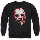American Horror Story Sweatshirt Bloody Face Adult Black Sweat Shirt