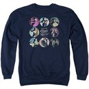 American Horror Story Sweatshirt Cabinet Of Curiosities Adult Navy Blue Sweat Shirt