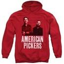 American Pickers Hoodie Picker Wood Pattern Red Sweatshirt Hoody