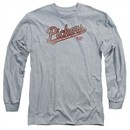 American Pickers Long Sleeve Shirt Distressed Logo Athletic Heather Tee T-Shirt