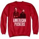 American Pickers Sweatshirt Picker Wood Pattern Adult Red Sweat Shirt