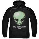 Ancient Aliens Hoodie Will They Return Black Sweatshirt Hoody