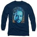 Ancient Aliens Long Sleeve Shirt Giorgio Tsoukalos Navy Blue Tee T-Shirt