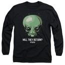 Ancient Aliens Long Sleeve Shirt Will They Return Black Tee T-Shirt