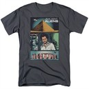 Ancient Aliens Shirt Comic Page Charcoal T-Shirt