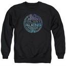 Ancient Aliens Sweatshirt Symbol Logo Adult Black Sweat Shirt