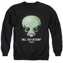 Ancient Aliens Sweatshirt Will They Return Adult Black Sweat Shirt