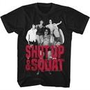 Andre The Giant Shirt Shut Up & Squat Black T-Shirt