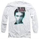 Andy Black Long Sleeve Shirt Raised Eyebrow White Tee T-Shirt