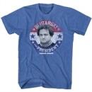 Animal House Shirt Blutarsky For Prez Blue Heather T-Shirt