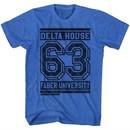 Animal House Shirt Delta House 63 Blue Heather T-Shirt