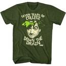 Animal House Shirt Down The Drain Green T-Shirt