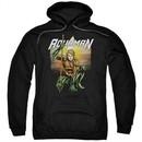 Aquaman Hoodie Beach Sunset Black Sweatshirt Hoody