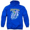 Aquaman Hoodie Ride Free Royal Blue Sweatshirt Hoody
